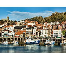 Scarborough Harbour Photographic Print