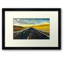 Never Ending Road Framed Print