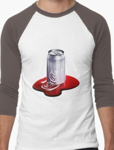 Melted Coca Cola Can Men's Baseball ¾ T-Shirt