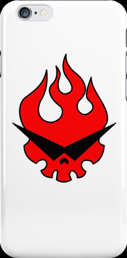 Gurren Dan White iPhone Case by Robin Kenobi
