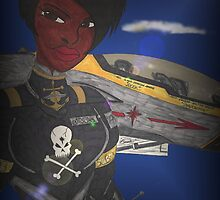 """Brittney """" Fighter Pilot"""" by Ronald Woods"""