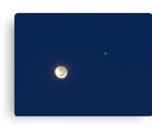 Moon And Jupiter Canvas Print