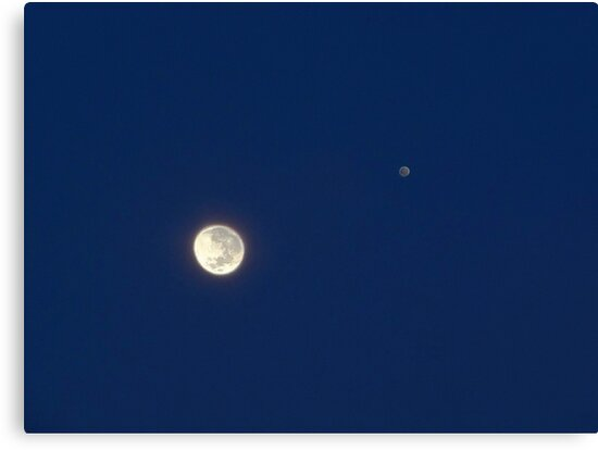 Moon And Jupiter by EOS20