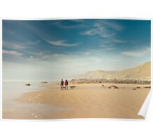 A fine day to walk the dog ~ Sandymouth Beach, Cornwall Poster