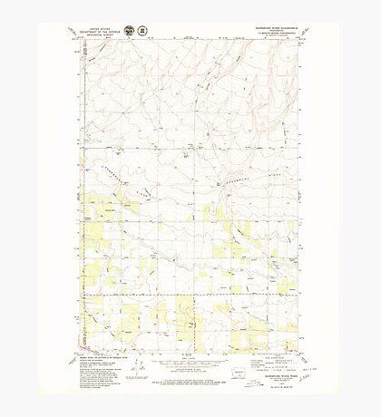 USGS Topo Map Washington State WA Sagebrush Ridge 243559 1979 24000 Photographic Print