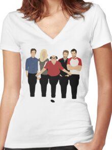 Sunny Bottles Women's Fitted V-Neck T-Shirt