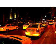 Taxi in Istanbul Photographic Print