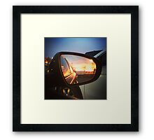 Sunset through the Looking Glass Framed Print