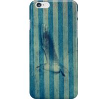 seagull in cyan iPhone Case/Skin