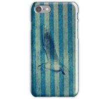 seagull in cyan iPhone Case/Skin