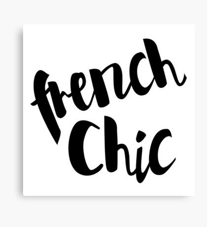 French Chic Black and White Canvas Print