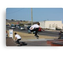 Flying High! - Ollie On The Street Course Canvas Print