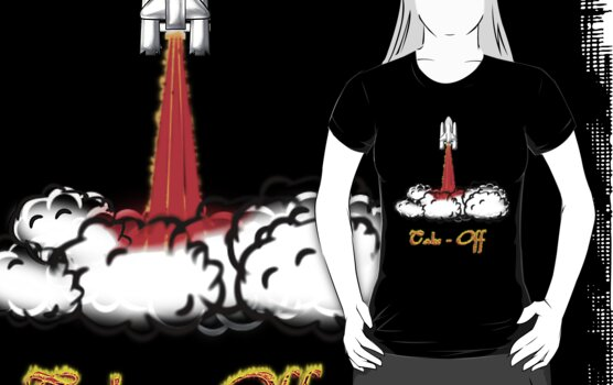 Space Shuttle Take-Off T-shirt by Dennis Melling
