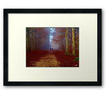 Autumn wood walk Framed Print