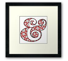 Boho Red Ampersand Framed Print
