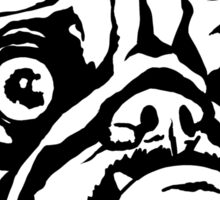 MEAN MUG PUG - Ozzy inked Sticker