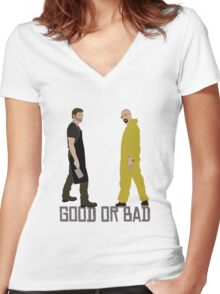 Good or Bad? Women's Fitted V-Neck T-Shirt