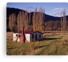Derelict House, Hops Field, Tasmania Canvas Print