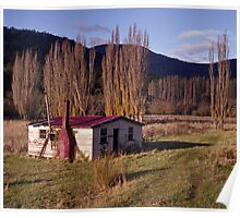 Derelict House, Hops Field, Tasmania Poster
