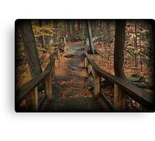 Childs Autumn Hike Canvas Print