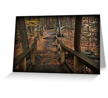 Childs Autumn Hike Greeting Card