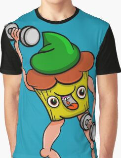 Stud Muffin Posing With Dumbbells Graphic T-Shirt