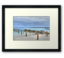 View of Nygard Cay from Jaws Beach in Nassau, The Bahamas Framed Print