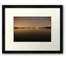 Bon Accord Dam at night Framed Print