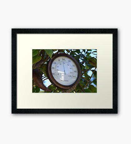 Autumnal Temperature Framed Print