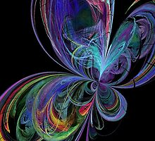 Swirly Rainbow Butterfly by pjwuebker