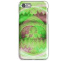 Swirling Green Wind Abstract iPhone Case/Skin