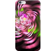 Swirling Green and Pink Ribbons iPhone Case/Skin