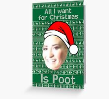 POOT LOVATO CHRISTMAS MEME Greeting Card