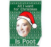 POOT LOVATO CHRISTMAS MEME Poster
