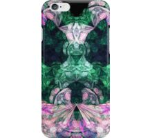 Swarming Pink and Green Swirls iPhone Case/Skin