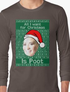 POOT LOVATO CHRISTMAS MEME Long Sleeve T-Shirt