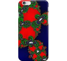 Sparkling Green on Red on Blue iPhone Case/Skin