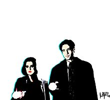 Scully & Mulder ~ no background by Jessica O'Keefe