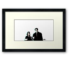 Scully & Mulder ~ no background Framed Print