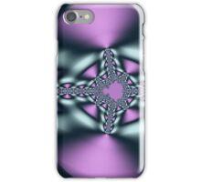 Silver Eye Purple Skin Abstract iPhone Case/Skin