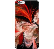 Red and White Abstract Feathers iPhone Case/Skin