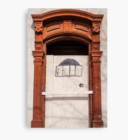 Faux Door Canvas Print
