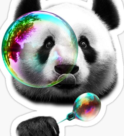 PANDA BUBBLEMAKER Sticker