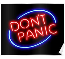"Hitchhiker's Guide - ""Don't Panic"" Neon Sign Poster"