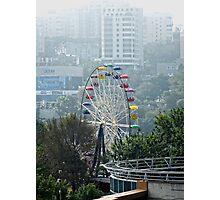 Amusement Park Eye ~ Ferris Wheel in Vladivostok, Russia Photographic Print
