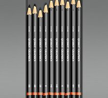 Graphic Artists Pencils Set iPhone Case by Alisdair Binning