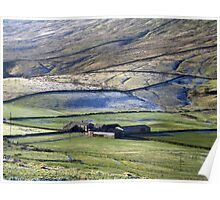 Dales farm in winter Poster