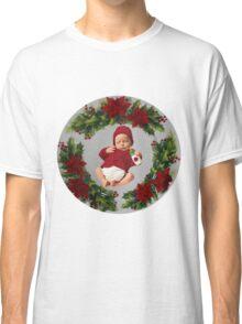 FESTIVE-POINSETTIA SILENT NIGHT-JOURNAL-PILLOWS-DUVET-TOTE BAGS-ECT.. Classic T-Shirt
