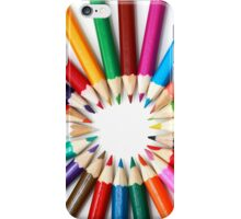 Rainbow of Colored Pencil Points 2 iPhone Case/Skin