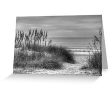 Serenity Beach In Black And White Greeting Card